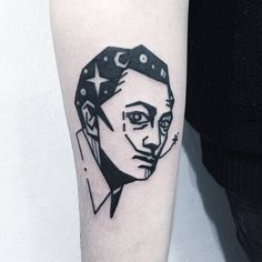 Salvador Dali Tattoo by Greemtattoo