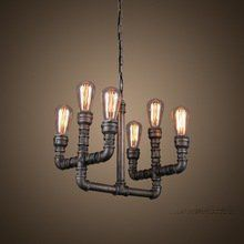 Quick Details  Material: Wrought iron Color: Black Type: Industrial Light Source: Energy saving or high power LED Size: L-360mm*W-12in/H-14in Main Material: Wrought iron Apply: lobby/living room/dining room/kitchen/restaurant/cafe/bar/hotel/home Bulbs: 6(included) Cerificatiom: CE/UL/ISO9001/SAA/ROHS