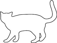 Free Cat Patterns   Cat pattern outline