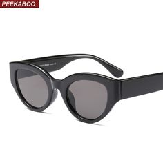 604b5ef2499d4 Peekaboo retro red sunglasses women cat eye 2018 black leopard white cat  eye sun glasses for