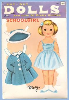 1965 CUT-OUT-PAPER-DOLLS & CLOTHES. Page 2