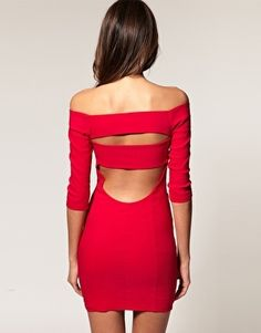 ASOS Off Shoulder Dress With Cut Out - StyleSays