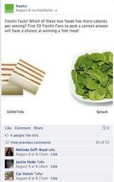 Facebook Engagement 101: Comment Currency Grilled Tofu, Free Food, Sparkle, Posts, Meals, Engagement, Facebook, Funny, Blog