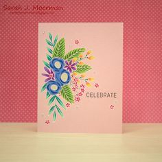 HI everyone,     I'm back to share another card featuring the  Simon Says Stamp June 2017 Card Kit: Blissful .    For today's card I once a...