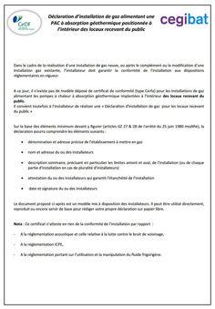 Certificat de conformit erp cat gories 1 4 - Certificat de conformite gaz ...