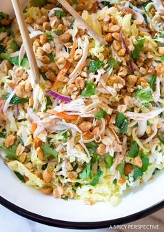 Crunchy Vietnamese Cold Chicken Salad (Goi Ga) Recipe - A light and healthy chicken and cabbage salad that is gluten free and paleo-friendly!