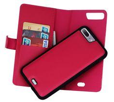 iPhone 7 Plus Detachable Magnetic Zipper Pocket Case