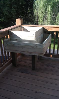 http://www.reddit.com/r/DIY/comments/13ter3/threetiered_planter_project_with_attached_bench/