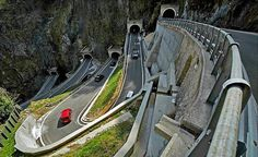 The San Boldo Pass (in Italian Passo San Boldo, formerly Passo Sant'Ubaldo and Umbaldopass) is a small mountain pass in the Italian Veneto region between the towns Trichiana and Tovena in the Cison di Valmarino region.