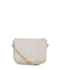 Mink Chevron Quilted Shoulder Bag