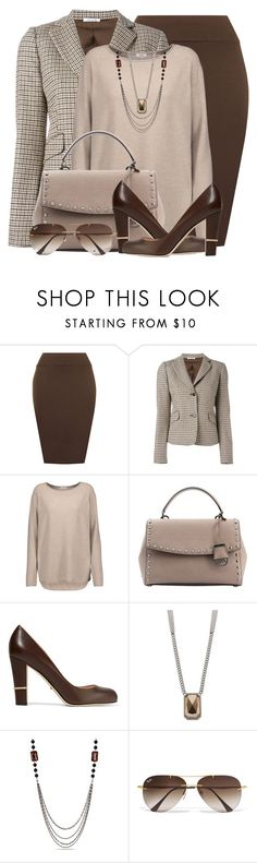 """Fall Work Wear"" by brendariley-1 ❤ liked on Polyvore featuring WearAll, P.A.R.O.S.H., Vince, Sergio Rossi, Simply Vera, Miadora, Ray-Ban, WorkWear and Fall"