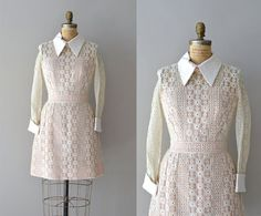 1960s dress / vintage 60s lace dress / Petit Chou by DearGolden