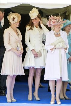 The Countess of Wessex Duchess of Cambridge Duchess of Cornwall Order of the Garter Windsor Castle