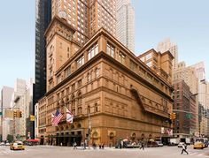 Carnegie Hall – New York City, USA. A concert venue in Midtown Manhattan in New York City, located at 881 Seventh Avenue, two blocks south of Central Park. Designed by architect William Burnet Tuthill and built by philanthropist Andrew Carnegie in 1891, it is one of the most prestigious venues in the world.