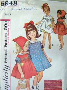 SALE Vintage Simplicity 5948 Sewing Pattern Size by WitsEndDesign