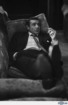 Sean Connery Smoking Cigar