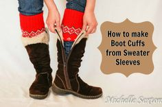 How to Create Boot Cuffs from Sweater Sleeves