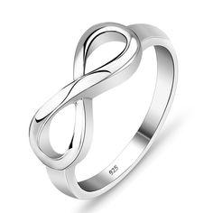 Migliore Amico Regalo di Alta Qualità 925 Sterling Silver Infinity Anello Endless Love Symbol Anelli All'ingrosso di Modo Per Le Donne # SI1137