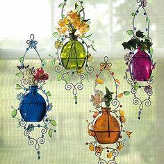Bits And Pieces - Acheter des puzzles, des puzzles - Mini Jardins Japonais Bead Bottle, Glass Bottle Crafts, Bottle Art, Wire Crafts, Fun Crafts, Diy And Crafts, Arts And Crafts, Bijoux Fil Aluminium, Diy Wind Chimes