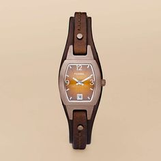 FOSSIL® Watch Styles Leather Watches:Watch Styles Marjorie Cuff Leather Watch – Brown JR9760