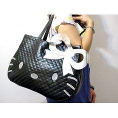 Black Hello Kitty Tote Bags