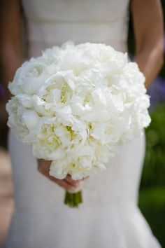 All white bouquet for me