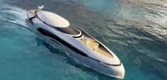 Future Transportation - Futuristic Yacht: Oculus luxury yacht inspired by an oceanic fish Super Yachts, Yacht Design, Boat Design, Future Transportation, Yacht Interior, Luxury Interior, Interior Design, Cool Boats, Ski Boats