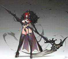 ArtStation - Dark lady, Dead Man