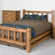 The Caldwell Brook Lite Timbers Barnwood Bed is a lovely combination of simplistic, woodland design and rustic elegance. Each bed comes with a handcrafted Norway pine headboard, footboard, and side rails,