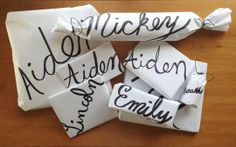 Goodbye Gift Tags: Make Personalized Wrapping Paper