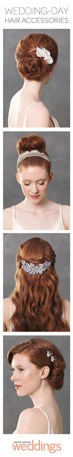 Four wedding-worthy hair accessories -- Which would you choose?