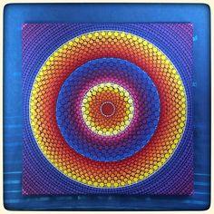 Original Painting by Elspeth McLean- dotillism mandala- phoenix fire Dot Art Painting, Mandala Painting, Mandala Canvas, Mandala Art, Polka Dot Art, Elspeth Mclean, Point Paint, Tiffany Art, Flower Mandala
