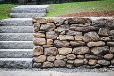 Jd masonry stone granite steps front steps pinterest - Natural stone wall solutions ...