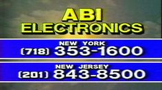 1987 - Commercial - ABI Electronics - NY 718-353-1600 or NJ 201-843-8500