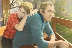 Exhibition: 'Colour my world: handcoloured Australian photography' at the National Gallery of Australia, Canberra http://artblart.com/2015/09/27/exhibition-colour-my-world-at-the-nga-canberra/ Photo: Ruth Maddison  (Australia born 1945) 'Jesse and Roger' 1983 From the series 'Some men'