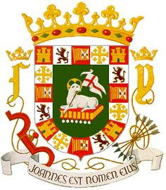 The figures we see on the Coat of Arms of the Commonwealth of Puerto Rico are inspired on those that appear on the Coat of Arms which the Spanish Crown granted to the Island of Puerto Rico at the beginning of the XVI Century. It was first recognized by King Ferdinand by virtue of Royal Decree on November 8, 1511, but it wasn't until March 9, 1905 that a law, establishing the official Coat of Arms was signed. It is the only one in Latin America still in official use since the conquest.
