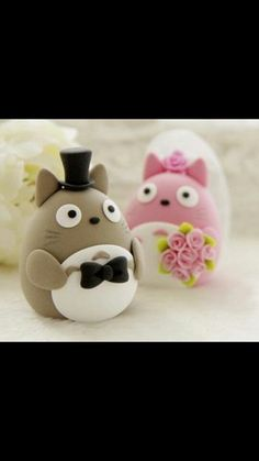 Totoro cake toppers