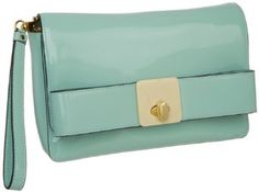 Amazon.com: Orla Kiely Patent Leather 13SBPAT106-2140-00 Clutch,Peppermint,One Size: Clothing