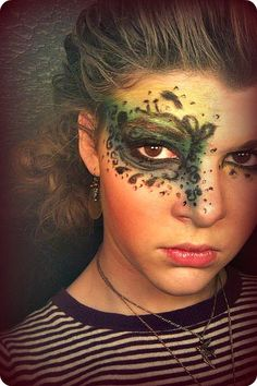 masquerade mask- nice makeup if you couldn't get a mask.
