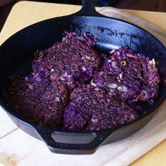 Purple Sweet Potato Hash Browns