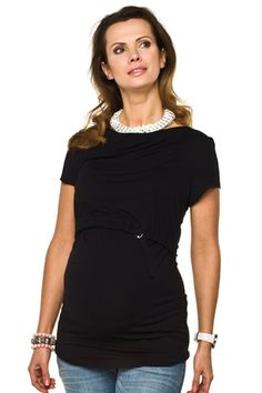 Společenské těhotenské tričko na kojení černé barvy Black, Dresses, Fashion, Vestidos, Moda, Black People, Fashion Styles, Dress, Fashion Illustrations