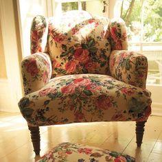 Cream Roses Armchair
