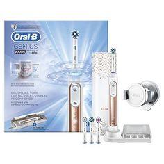 Oral-B Genius9000N CrossAction Brosse À Dents Électrique Rechargeable Par Braun, 1Manche Connecté Rosegold, 6Modes Dont Blancheur,…