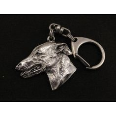 Grey Hound English Greyhound dog keyring by ArtDogshopcenter Dog Lover Gifts, Dog Lovers, Grey Hound Dog, Dog Supplies, Bull Terrier, Dogs, Handmade, English, Etsy
