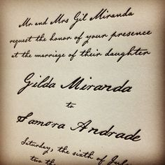 Nothing beats hand-#calligraphy, but Rachel comes pretty close! #letterpress #weddinginvitation
