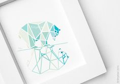 Polar bear Bear illustration Contemporary design by tinykiwiprints