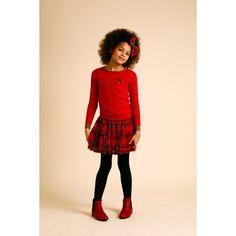 Gordon Skirt - Red - Girls Partywear - Girls