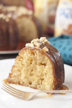 Salted Caramel Kentucky Butter Cake | Wishes and Dishes