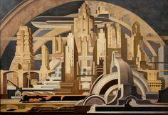 Cityscape, 1939 artist: Tullio Crali