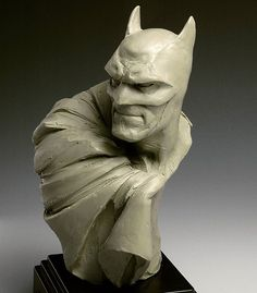 And here is a photo of the original Batman clay sketch, before the bronze casting. Nothing special, but shows some of the details that didn't translate to bronze. And to give credit where it's due- this sculpture was inspired by a doodle in one of Adam Hughes' sketchbooks. #batman #thedarkknight #suicidesquad #supermanvbatman #dccomics #justiceleague #traditionalsculpture #monsterpappa #chavant #handmade #clay